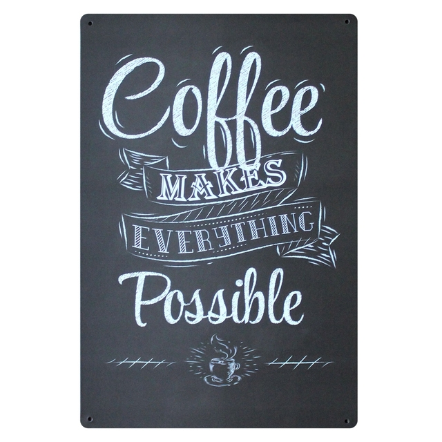 Mike86 Coffee Make Everything Possible Vintage Metal Signs Home