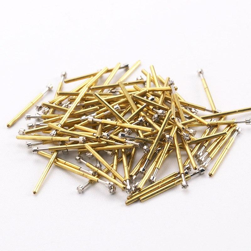 P75-H3 Crown Head Test Pin 100 Pcs / Bag Nickel Plating Thimble Needle 1.02mm Home Spring Metal Probe 2019 Hot Sale