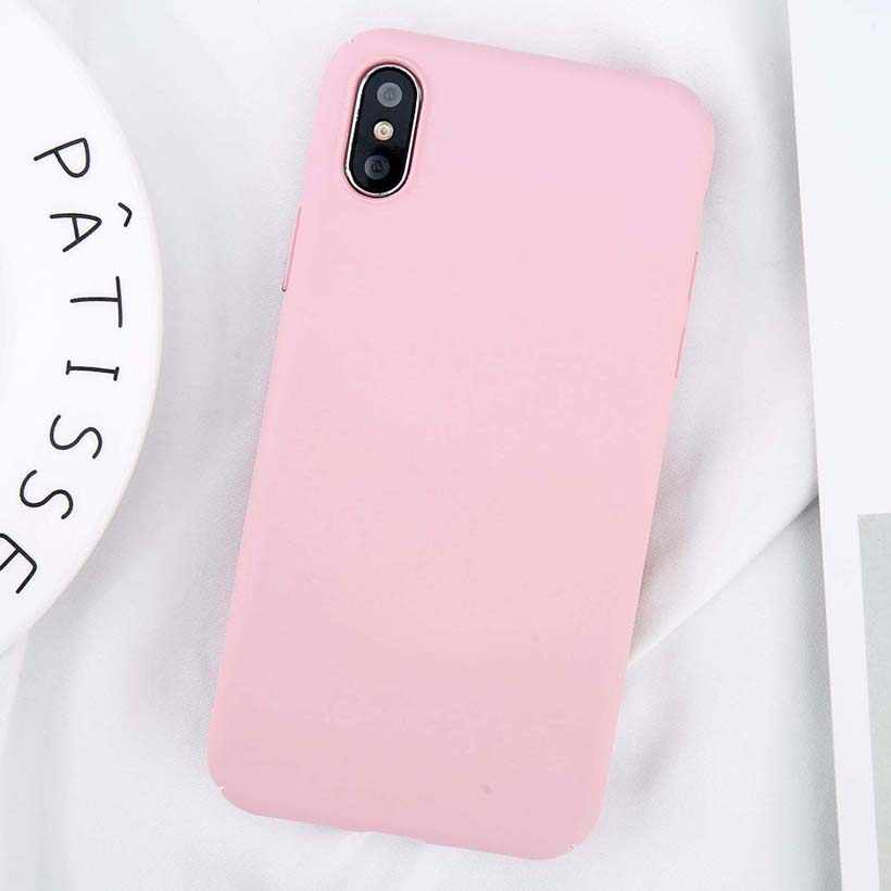 For iPhone X XR XS Max Simple Plain Phone Case Slim Frosted Hard PC Back Cover For iPhone X XR XS MAX 8 7 6 6S Plus Cases Coque