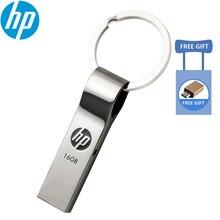 Оригинальный hp V285W ключ USB флэш-накопитель 32 ГБ/64 Гб Водонепроницаемая металлическая пылезащищенная Ручка Флешка USB флешка для ноутбука автомобиля тв