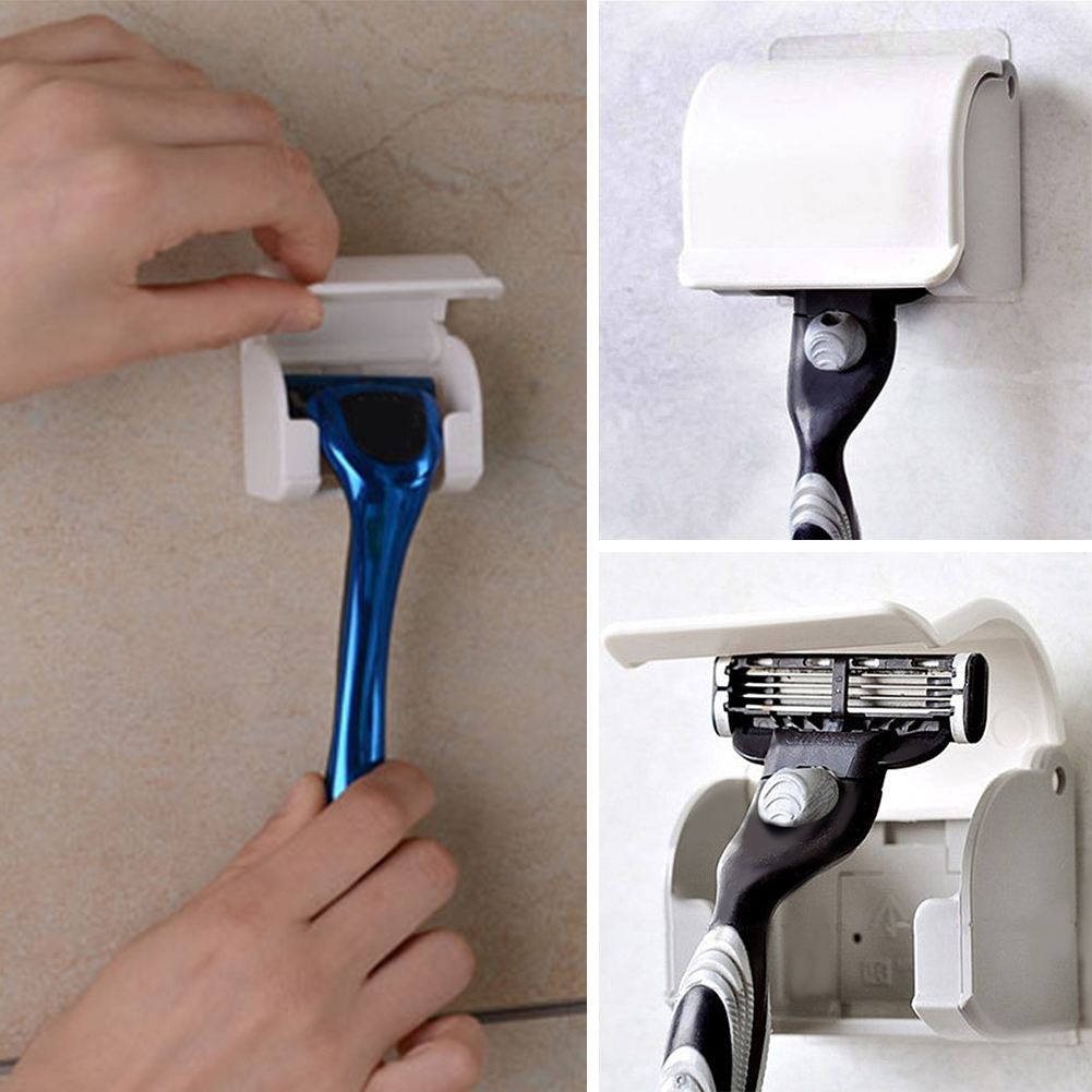 Razor Rack with Suction Cup  Knife Shaver Holder Holding Device Shave Hangers bathroom accessories