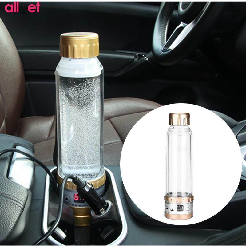 280ml Car Electric Kettle Car Based Thermal Mug Heating Boiling Water Cup Holder Auto Heating Cup Travel Heated Cup Hot Water He car mounted magnetized electric water heating cup blue transparent 250ml 12 24v