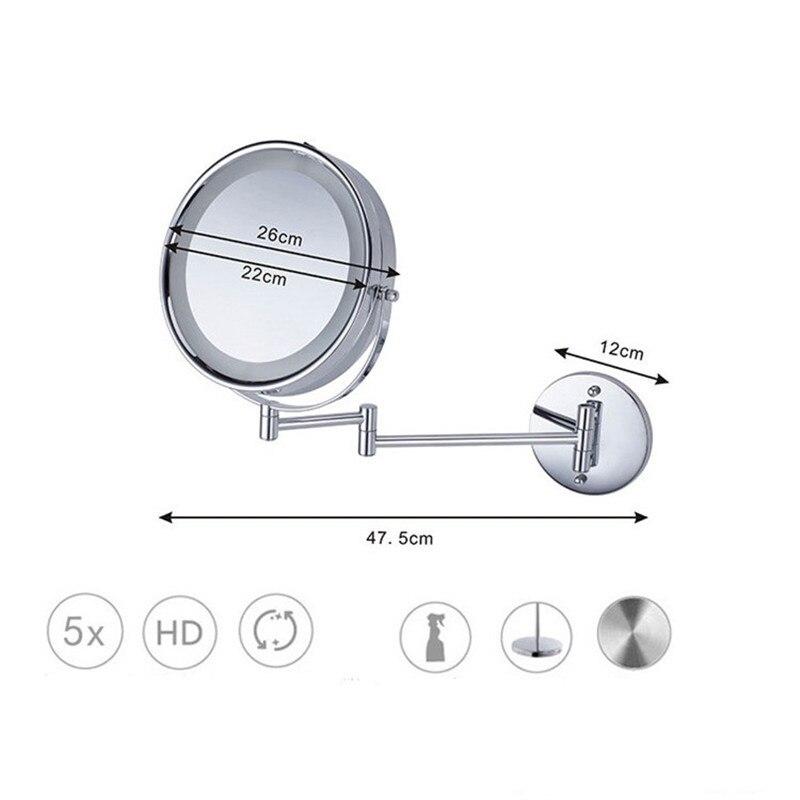 SpringQuan 8.5 inch metalen cosmetische spiegel 2-Face batterij - Huidverzorgingstools - Foto 4