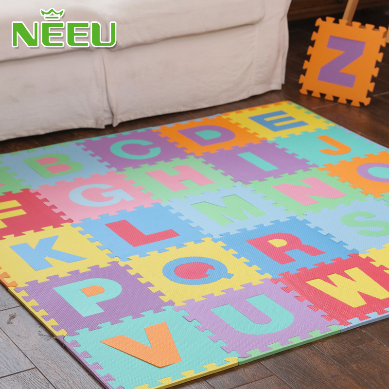 Neeu Kids Puzzle Alphabet 26 Tiles and Edges Play Mat EVA foam Exercise Play Mat Interlocking Tiles 100% guarantee good for huawei honor 4c 4a lcd display with touch screen digitizer assembly tools free shipping