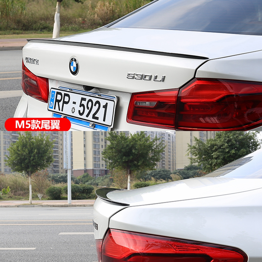 цена на MONTFORD ABS Plastic Unpainted Primer Color Rear Trunk Boot Wing Spoiler For BMW G30 G38 M5 520i 528i 535i 530i 525i Spoiler