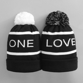 a811b6cf6d3 ONE LOVE winter outdoor knitting hat couple hat man wool hat lady ...
