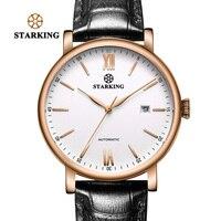 STARKING бренд класса люкс минималистский бизнес часы для мужчин Японии Miyota автоматические часы сталь Авто Дата Мужской часы кожа наручны