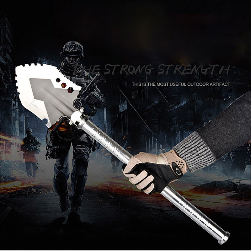 Tactical Multifunction Camping Shovel Outdoor Survival Folding Shovel Cast Steel Hunting Military Sapper Shovels Spade Hoe HW06 hot sell stainless steel military folding shovel exploration survival spade emergency garden camping outdoor tool with bag