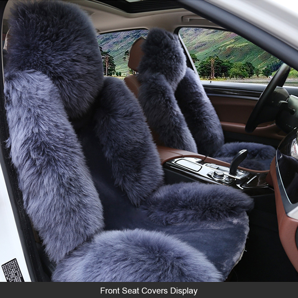 Car Seat Cushions Australia Us 141 83 28 Off Long Wool Car Seat Cover Full Set Universal Sheepskin Fur Seat Cushions Winter Australia Wool Seat Covers 4pcs For Nissan In