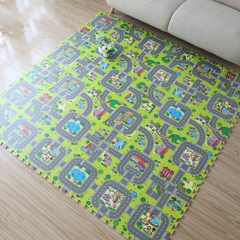 2017-New-9pcs-Baby-EVA-foam-puzzle-play-floor-matEducation-and-interlocking-tiles-and-traffic-route-ground-pad-no-edge-1