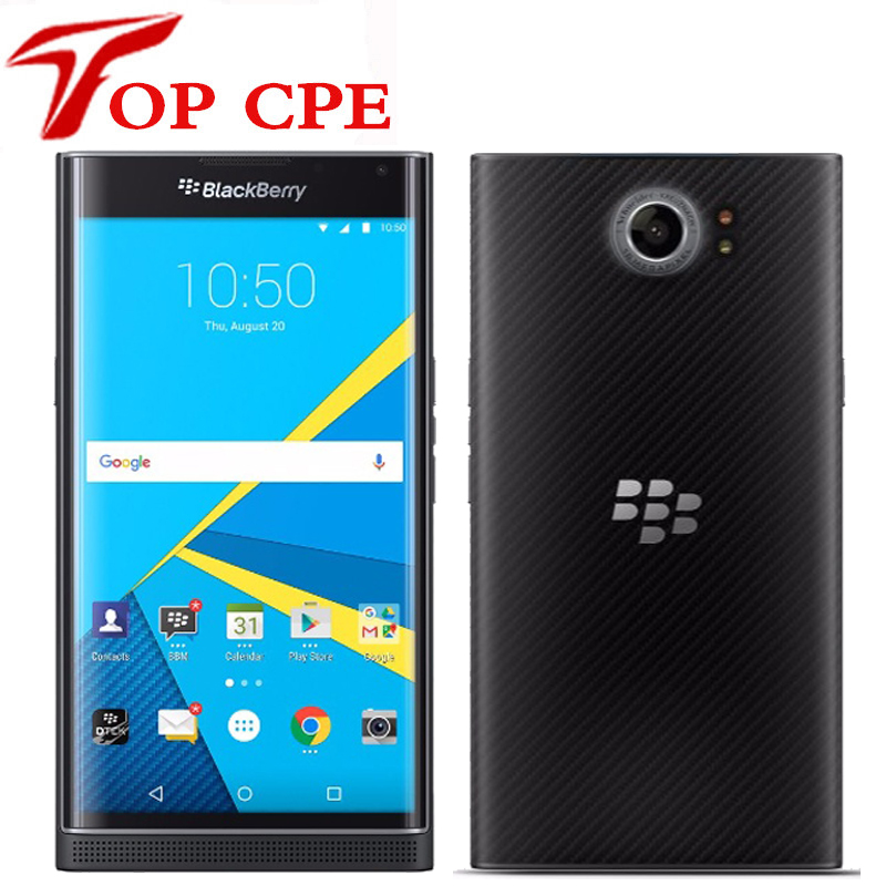Unlocked Original BlackBerry Priv 5.4' Slider Cellphone Android OS 3GB RAM 32GB ROM 18MP camera Hexa Core Mobile Cell Phone(China)
