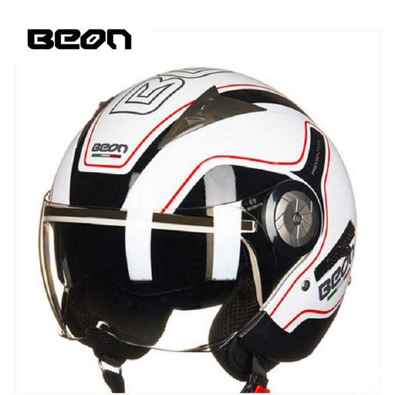 цены 2018 Autumn New Europe ECE Certification Netherlands BEON Double lens Motorcycle Helmets B-216 ABS Half Face Motorbike Helmet