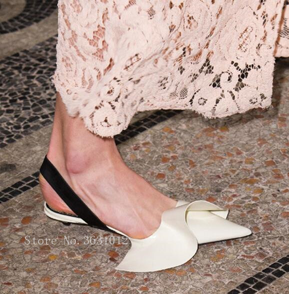 2018 Newest Hot Selling Ruffles Leather Pointed Toe Elastic band Mary Janes Women Pumps Strange Style Low Heels Shoes Woman mary janes shoes woman genuine leather strange style women heels pumps pointed toe shoes string bead spring autumn women shoes