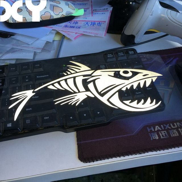 Cool fish vinyl decal waterproof stickers car stickers and decals funny cute automobiles sticker drop shipping