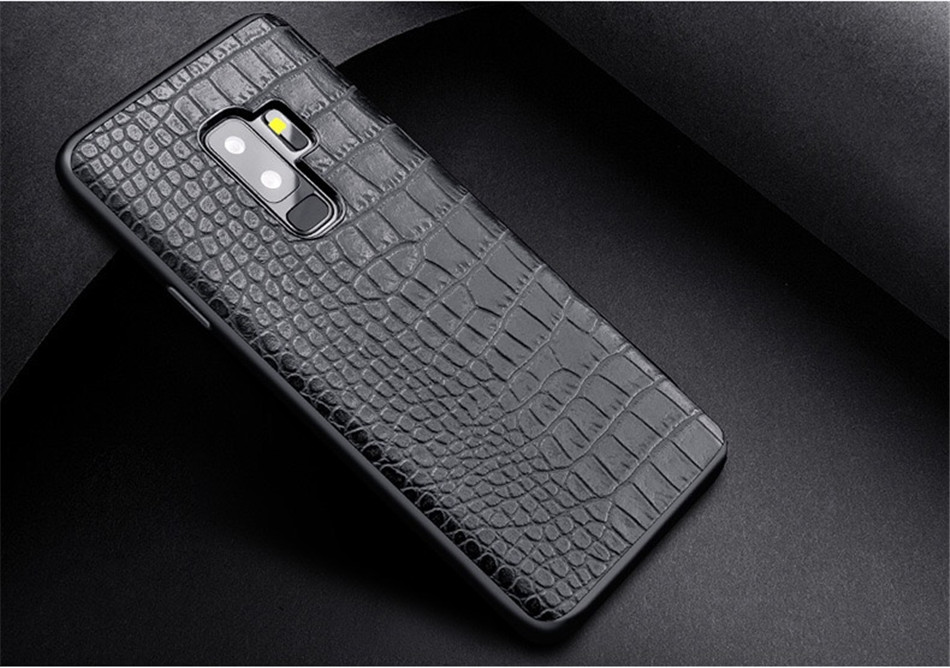 Retro Crocodile Snake Case For Samsung S8 S9 Plus Note8 Art Print PU Leather Soft Luxury Phone Back Cover For Samsung Note 8 S9 (7)