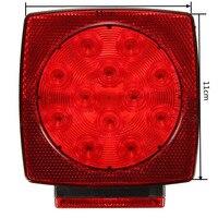 New 2pcs Auto DC12 24V Car LED Stop Turn Tail Camper Light Low Power Consumption LED