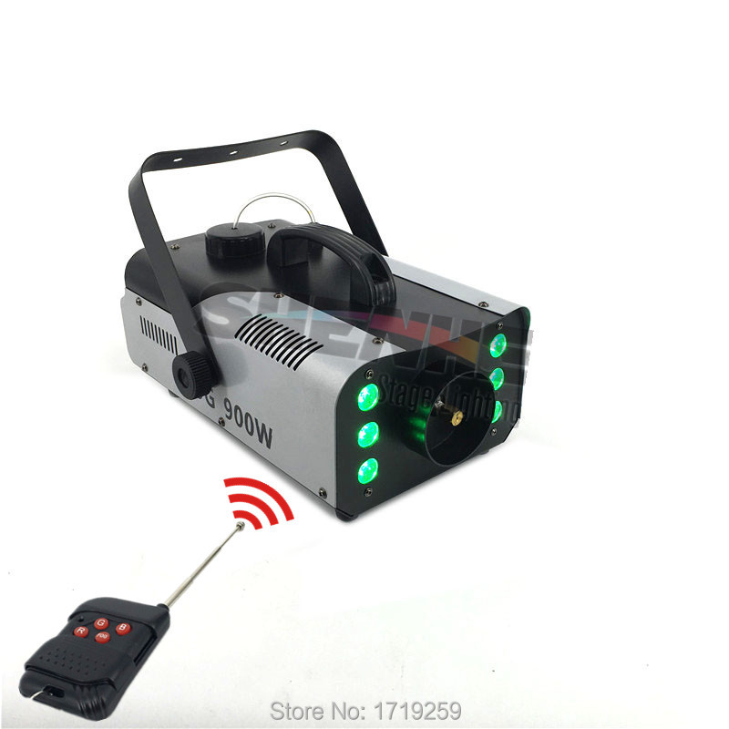 Mini 900W RGB 3IN1 Remote Control fog machine pump DJ Disco Smoke Machine for Party Wedding Christmas Stage Fogger Machine недорого