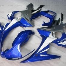 YZF R6 2003-2005 наборы обтекателей YZF R6 03 04 комплект обтекателей для YAMAHA YZFR6 2003 белого и синего цвета серебристый зализа Abs