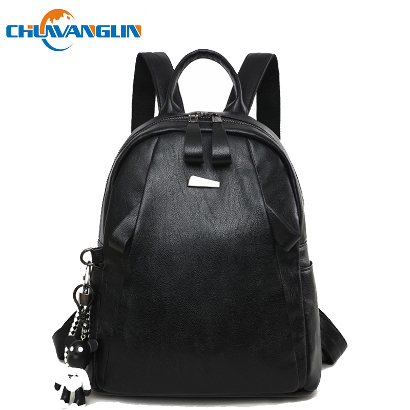 Chuwanglin Wild Women Backpacks Casual Leather School Bags Trend Travel Bags Soft Surface Feminine Backpack Women Bag079SJ