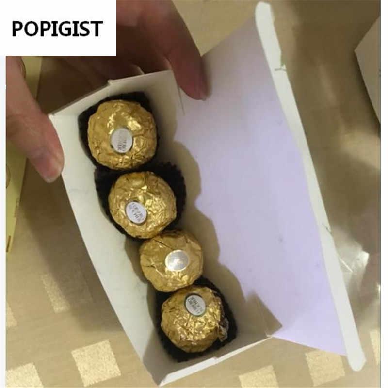 Châu Âu Mới Xanh Lá Dài Hộp Đựng Kẹo Nơ Cưới Ủng Hộ Bomboniera Đảng Giấy Nhờ Hộp Quà Chocolate Hộp
