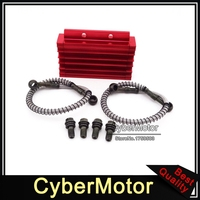 Pit Dirt Bike Red CNC Aluminum Oil Cooler For 125cc 140cc 150cc Lifan YX Zongshen BSE Kayo CRF50 Thumpstar Chinese Motorcycle