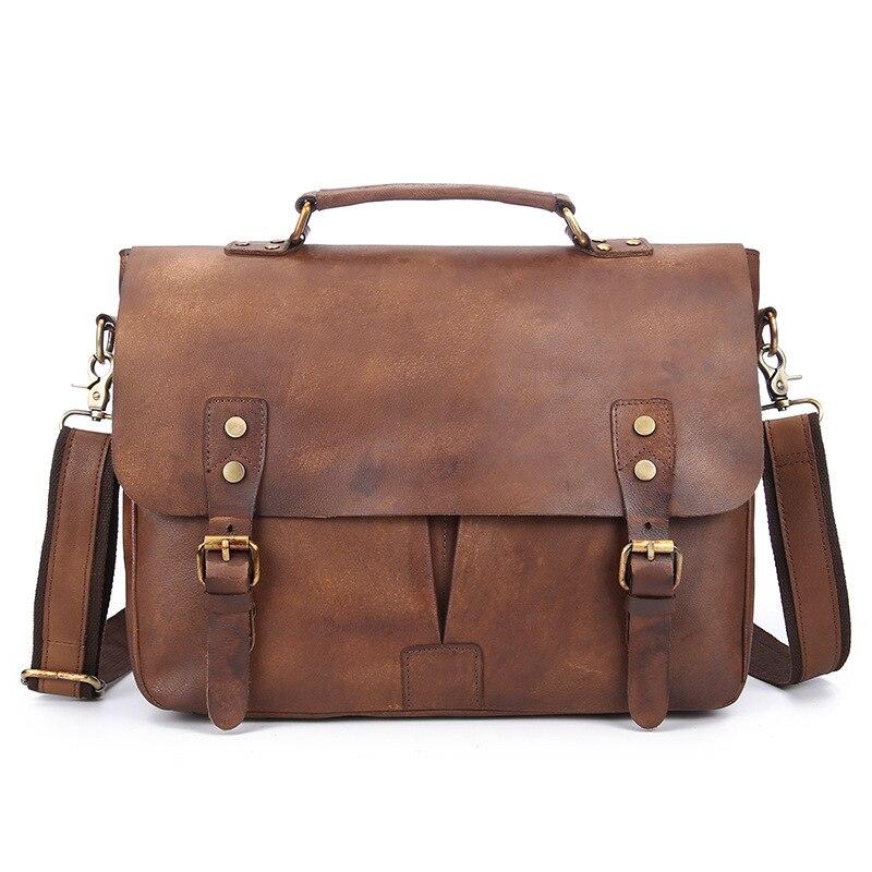 Business Men Briefcase Bolso Hombre Piel Mens Bags Handbags Genuine Leather Laptop Bag Shoulder Bag Maletines Negocios