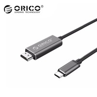 ORICO Type C to HDMI Converter USB 3.1 USB C to HDMI Cable for MacBook Samsung Galaxy S9/S8/Note 9 Huawei P20 4k 2m hdmi Cord