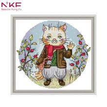 NKF cross stitch kits embroidery needlework sets counted Cross Stitch 11CT 14CT Set Wholesale DIY Cross-stitch Kit