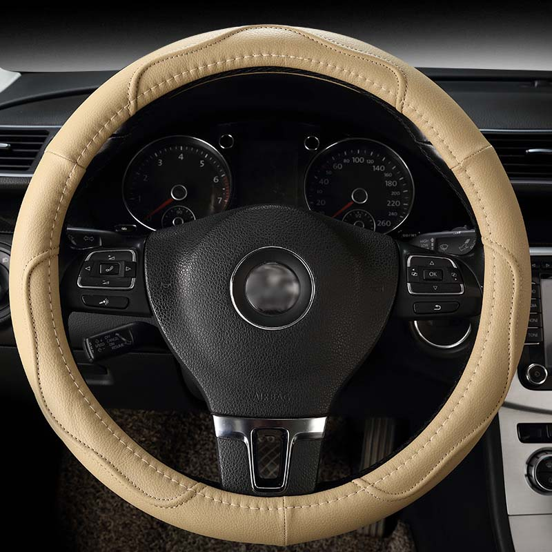 Aliexpress Com Buy Luxury Car Steering Wheel Cover Leather Cover