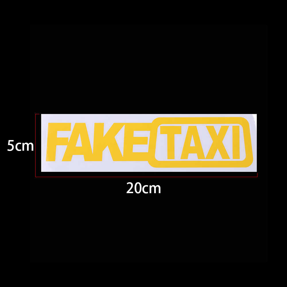 Новый поддельный такси JDM Универсальный Автомобильный стикер Дрифт турбо Hoon Гонки Авто смешная виниловая наклейка для стайлинга автомобиля украшение наклейка 20x5 см