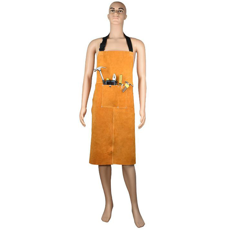 Work Wear Men's  Safety Clothing Overalls Protective Cloth Workers Repairman Machine Car Repair Welding Apron Leather DFW029