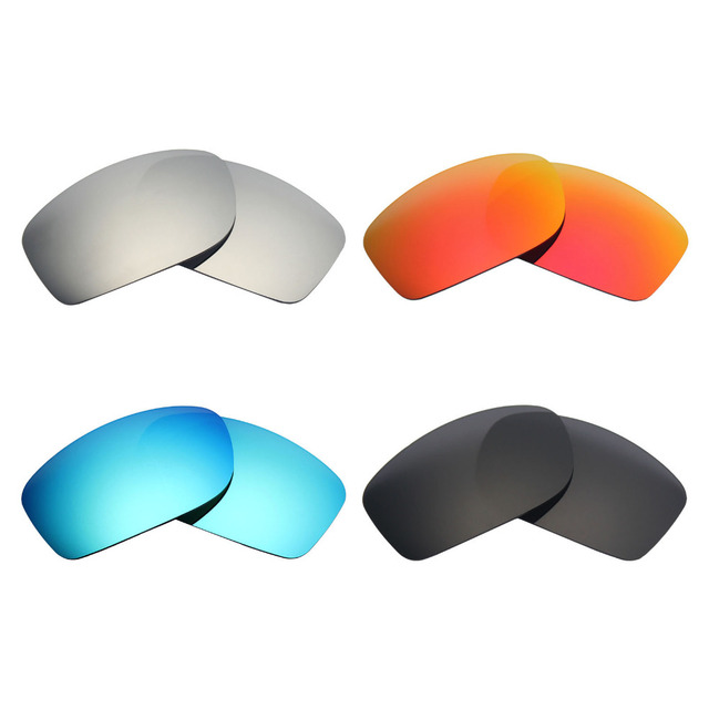 99841c3175fa2 4 Pairs MRY POLARIZED Replacement Lens for Oakley Fives Squared Sunglasses  Stealth Black   Ice Blue   Fire Red   Silver Titanium