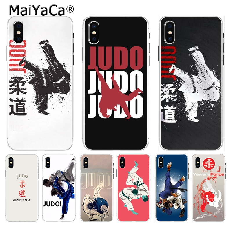 MaiYaCa Judo Colorful Cute Phone Accessories case for iPhone 8 7 6 6S Plus X XS