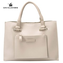 DAVIDJONES Women PU Bags Handbags Famous Brands Big Casual Women Bags Trunk Tote  Shoulder Bag Ladies large Bolsos Mujer