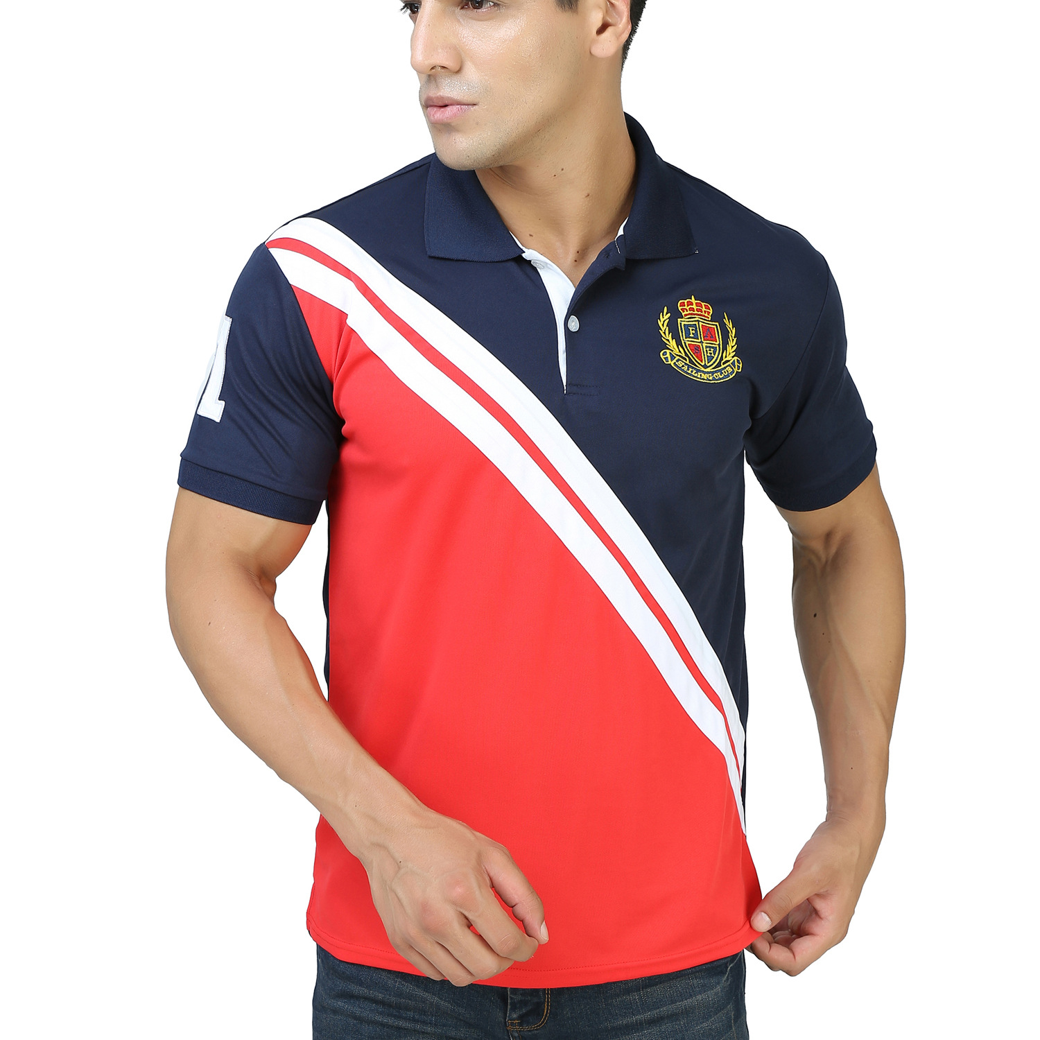 2019 New Mens   Polo   shirt with Coloured Turn Over Collar Short Sleeve Stitching   Polo   Shirt Mens Fashions Clothes