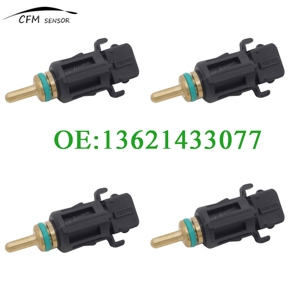 4pcs Coolant Temperature Sensor 13621433077 For Bmw E46 E90 E39 E60 E38 X3 X5 X6 Z4 323 325 328