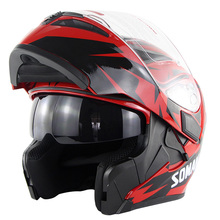 Motorcycle Full Face Helmet Casque Moto High Quality ABS Motocross Helmet Motorbike Riding Capacete Dual Lens DOT Casco Moto