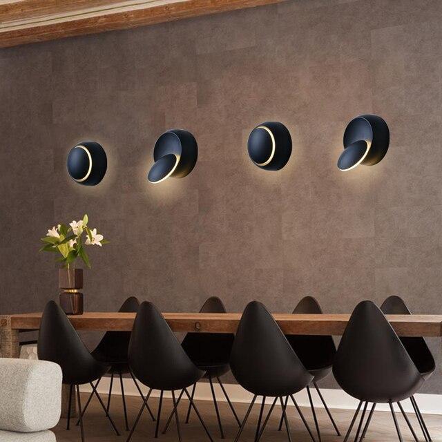 Sol Sconces Wall Lamp For Bedroom Sconce Modern Led Lights Arandela Adjule Indoor Lamps B 8029