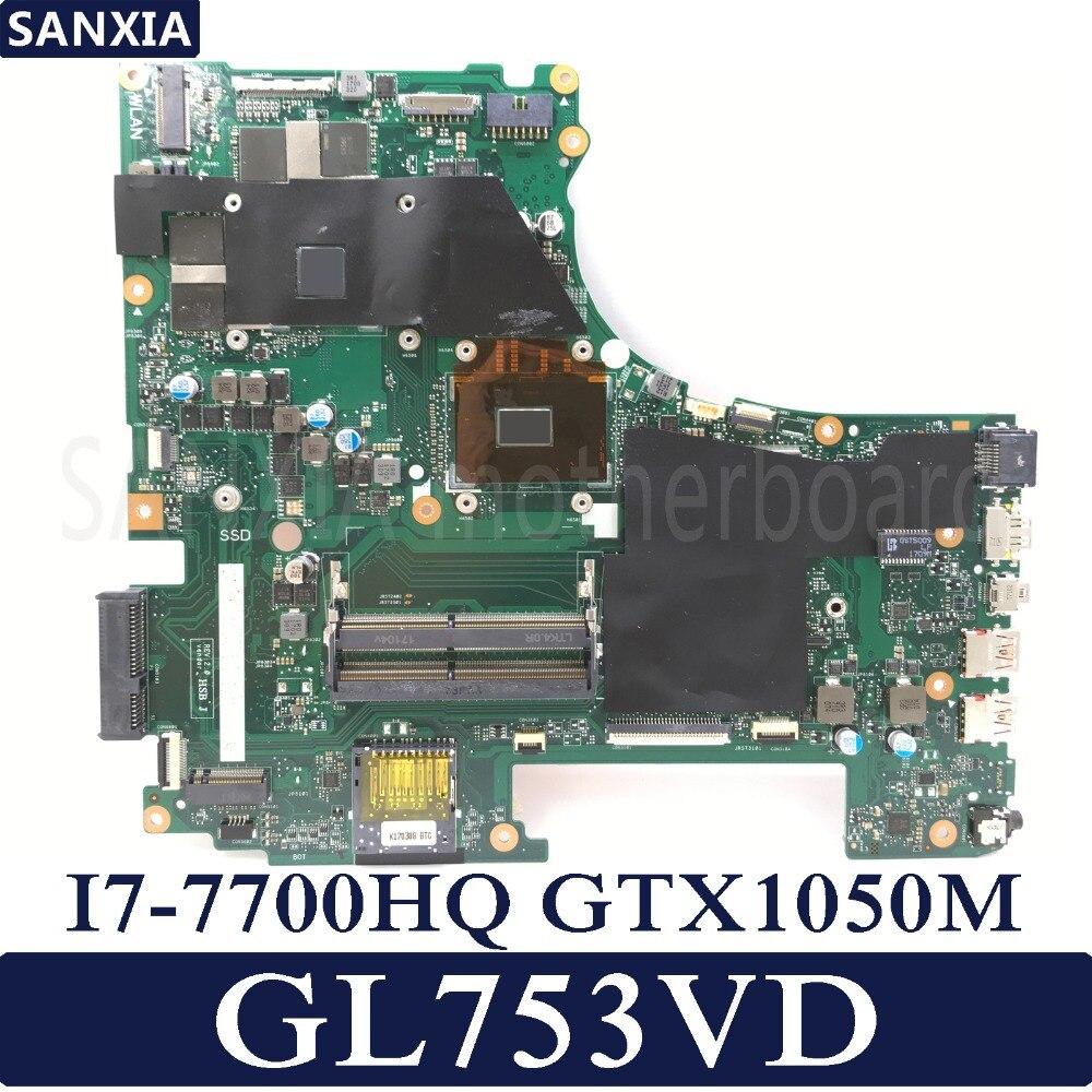 KEFU placa base de Computadora Portátil para ASUS ROG GL753VD placa base original de I7-7700HQ GTX1050M-4G