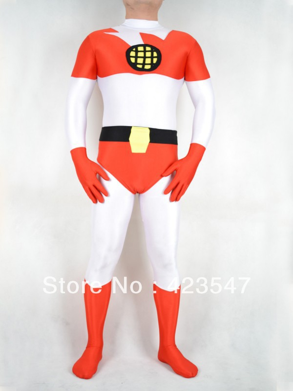 White & Red Spandex Earth Superman, superhero costumes Halloween costumes
