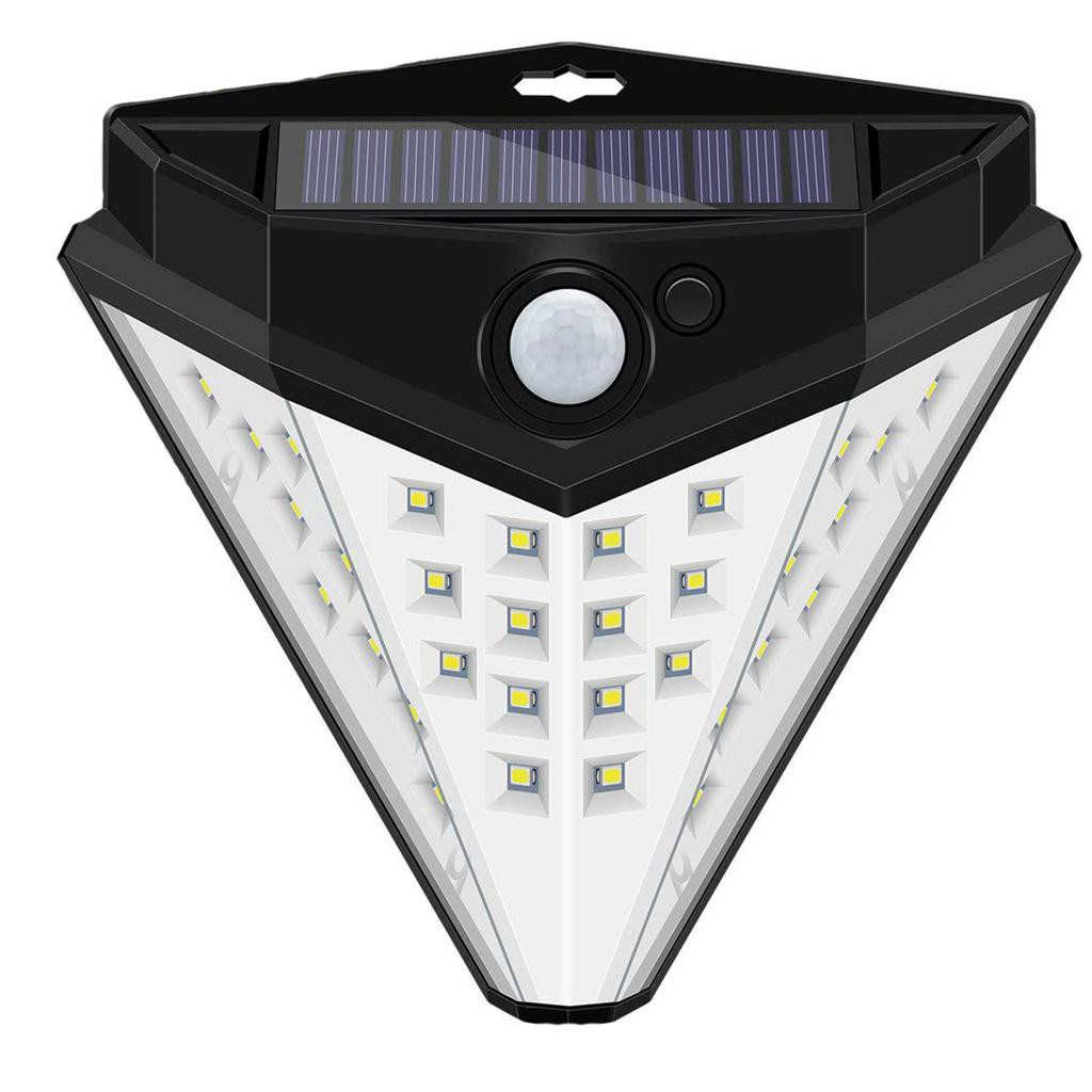 2019 shop owner recommended Solar LED Landscape Lamps Outdoor Human Body Induction Solar Bright Wall Lamp Spotlight 32LED