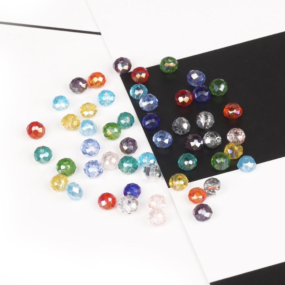 2 мм 3 мм 4 мм 6 мм 8 мм Rondelle Австрийские граненые Хрустальные стеклянные бусины Круглые свободные бусины для изготовления ювелирных изделий
