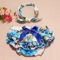 Bauhinia impresión Floral del mameluco de la burbuja, Vintage Girl del mameluco de la torta de Smash mameluco Bloomers con diadema