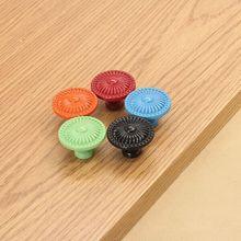 Children green black red blue orange kitchen cabinet knob drawer knobs pull color dresser bedside table