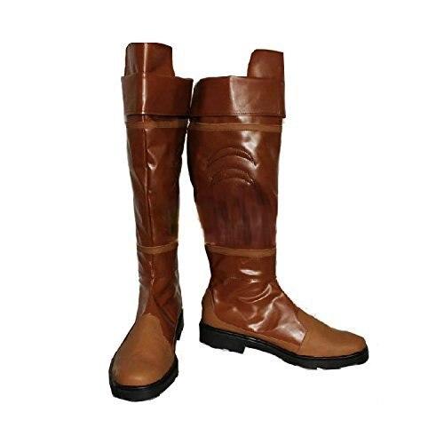 Outlander Lujo Cosplay Botas Zapatos Adultos de Disfraces de Halloween Props Por Encargo D0624