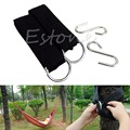 Practical Hammock Hang Sleeping Bed Ring Belt Rope Strap+S Hooks Clasps