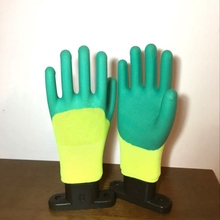 1 Pair Thermal Winter Working Gloves Latex Rubber Work Safety Gloves Anti-Skidding Waterproof Garden Repairing Builder Gloves(China)