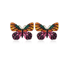 Lovely Colorful Butterfly Earrings For Woman Fashion Jewelry With Crystal Trendy Jewelry gift to Girl 3318