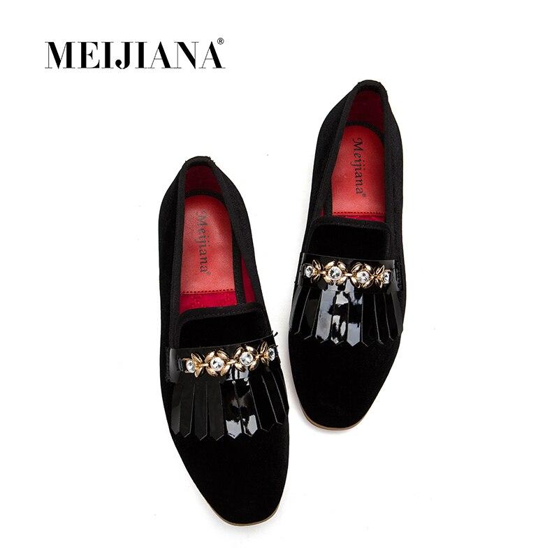 Pompes 2018 Banquet Meijiana Noir Brevet Chaussures Nouveau Talons En Sandales Mode Pour D'été Femmes Cuir 3RjLAq54