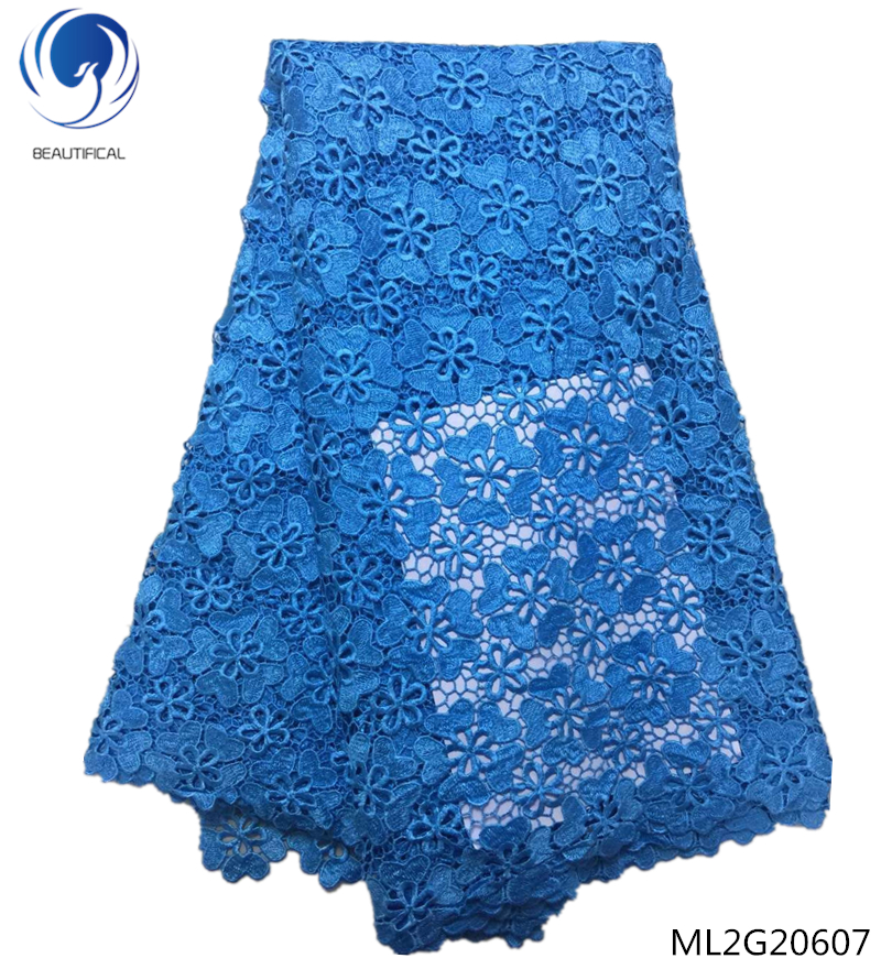 BEAUTIFICAL Cheap price cord lace fabric chemical guipure cord lace royal blue for nigerian party 5yards ML2G206BEAUTIFICAL Cheap price cord lace fabric chemical guipure cord lace royal blue for nigerian party 5yards ML2G206